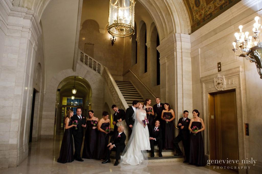Cleveland, Cleveland Public Library, Copyright Genevieve Nisly Photography, Ohio, Wedding, Winter