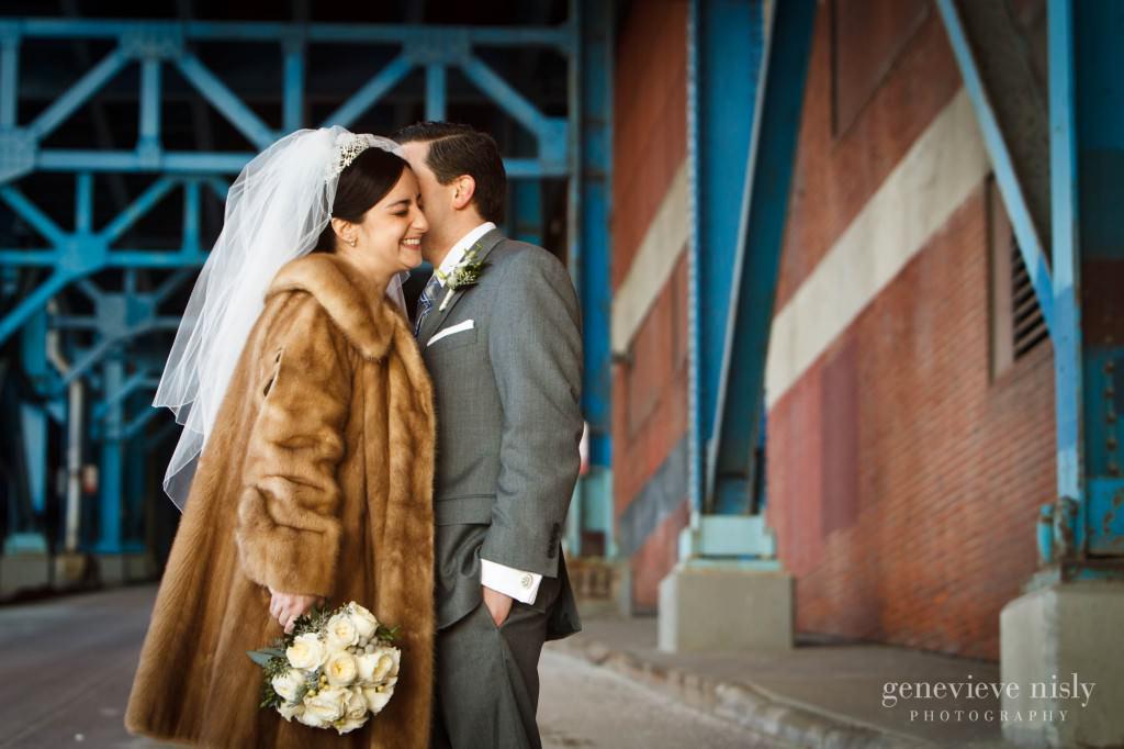 Cleveland, Copyright Genevieve Nisly Photography, Flats, Ohio, Wedding, Winter