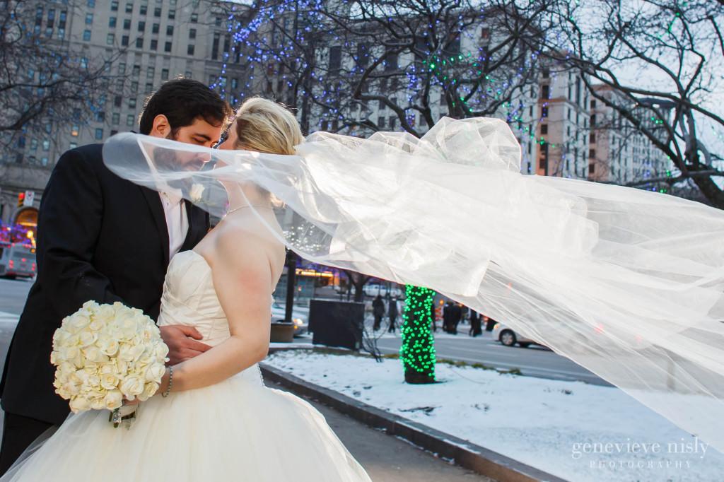 Cleveland, Copyright Genevieve Nisly Photography, Ohio, Public Square, Wedding, Winter