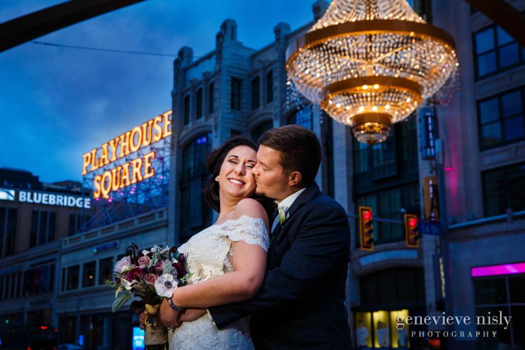 Cleveland, Copyright Genevieve Nisly Photography, Ohio, Playhouse Square, Wedding, Winter