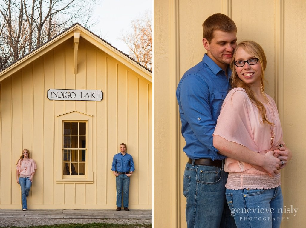 Akron, Copyright Genevieve Nisly Photography, Engagements, Indigo Lake, Spring