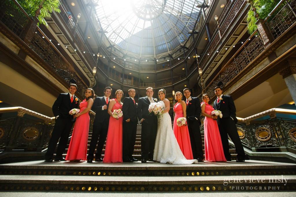 Cleveland, Copyright Genevieve Nisly Photography, Hyatt Arcade, Summer, Wedding