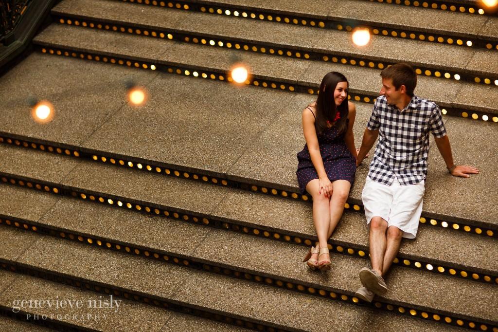 Cleveland, Copyright Genevieve Nisly Photography, Engagements, Hyatt Arcade, Summer