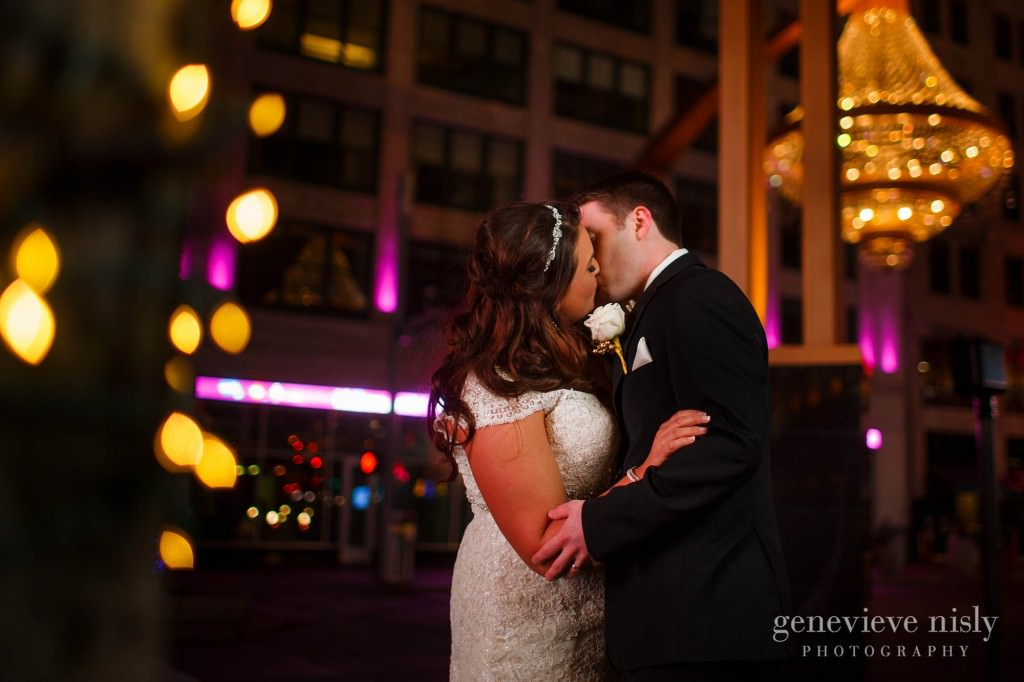 Cleveland, Copyright Genevieve Nisly Photography, Playhouse Square, Wedding, Winter