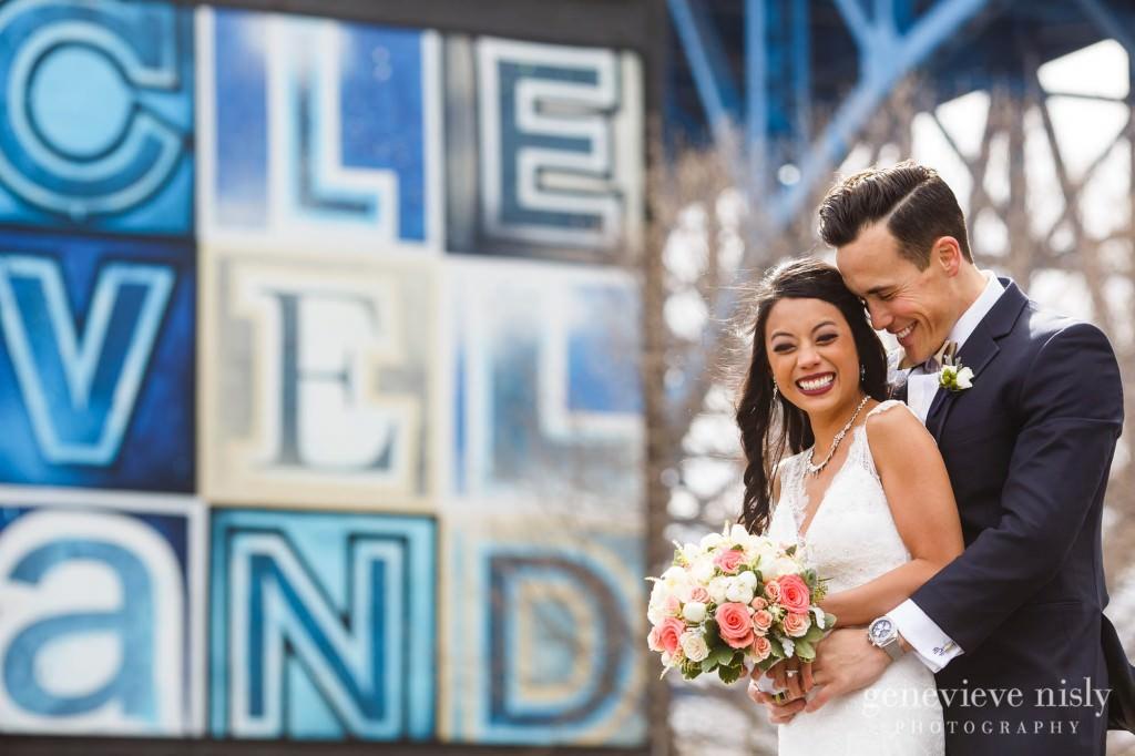 Cleveland, Copyright Genevieve Nisly Photography, Flats, Ohio, Spring, Wedding