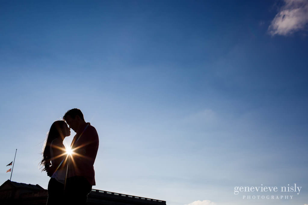 Cleveland, Copyright Genevieve Nisly Photography, Downtown Cleveland, Engagements, Ohio, Summer
