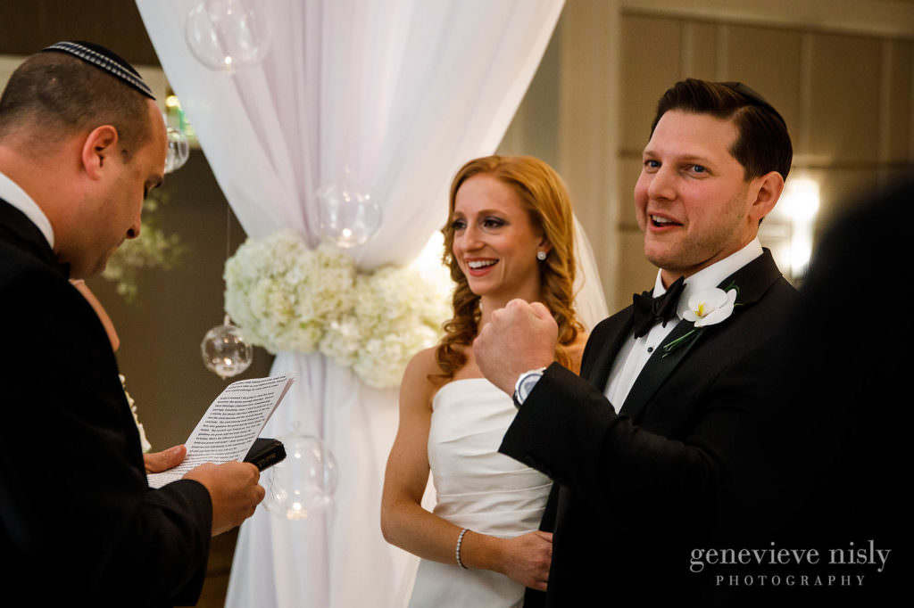 Max does a fist pump during the ceremony at the Ritz Carlton.