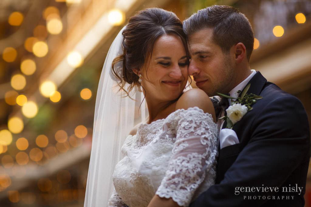 Cleveland, Summer, Wedding, Copyright Genevieve Nisly Photography, Ohio, Hyatt Arcade