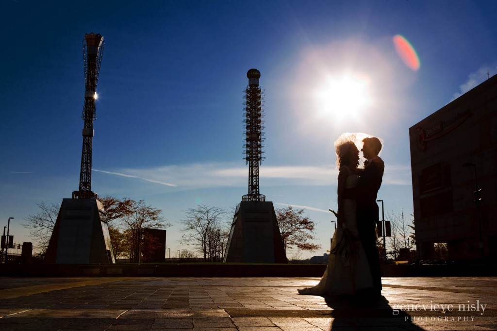 Cleveland, Copyright Genevieve Nisly Photography, Downtown Cleveland, Fall, Ohio, Wedding