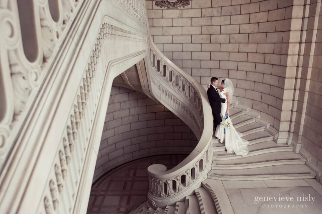 Cleveland, Copyright Genevieve Nisly Photography, Old Courthouse, Wedding, Winter