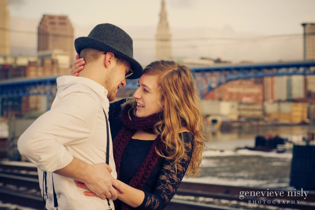 Cleveland, Copyright Genevieve Nisly Photography, Engagements, Ohio, Ohio City, Winter