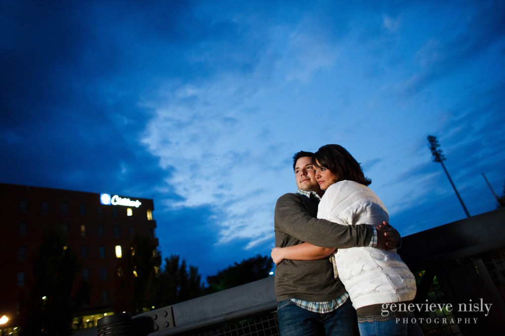 Akron, Copyright Genevieve Nisly Photography, Downtown Akron, Engagements, Fall