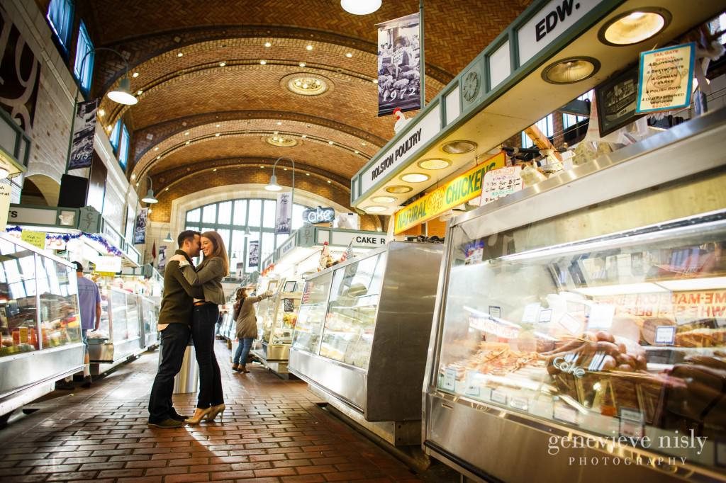 Cleveland, Copyright Genevieve Nisly Photography, Engagements, Ohio, Ohio City, Summer, Wade Lagoon, West Side Market