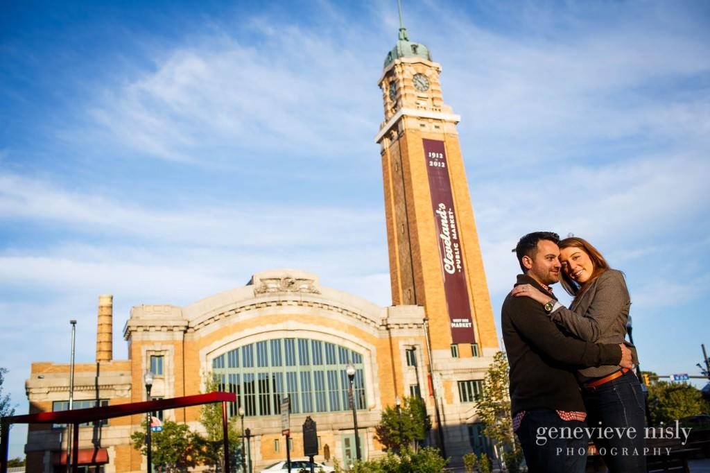 Cleveland, Copyright Genevieve Nisly Photography, Engagements, Ohio, Ohio City, Summer, Wade Lagoon, West Side Market