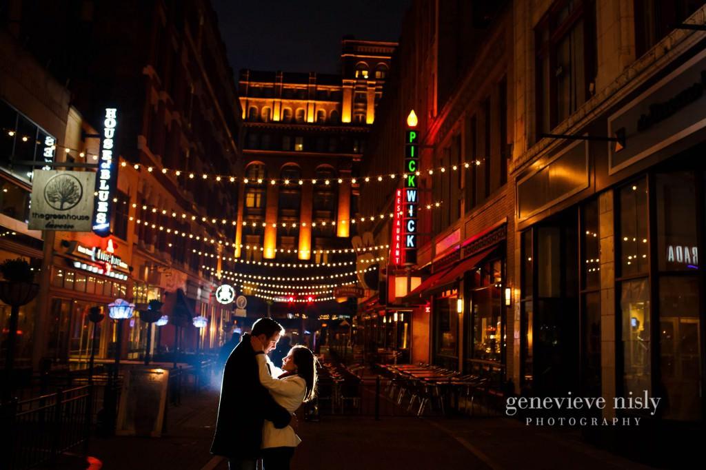 Cleveland, East 4th St., Engagements, Ohio, Ohio City, Winter