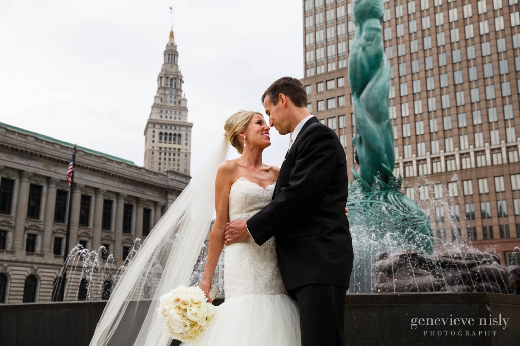 Cleveland, Copyright Genevieve Nisly Photography, Downtown Cleveland, Ohio, Summer, Wedding