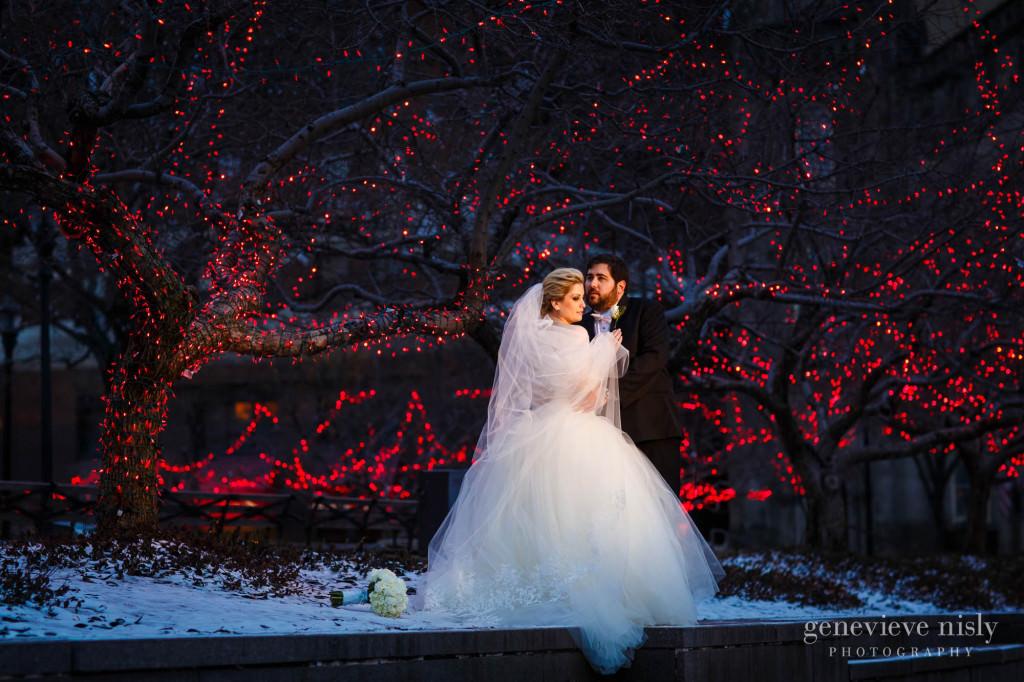 Cleveland Copyright Genevieve Nisly Photography Ohio Public Square Wedding Winter