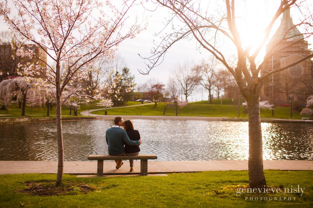 Cleveland, Copyright Genevieve Nisly Photography, Engagements, Spring, Wade Lagoon