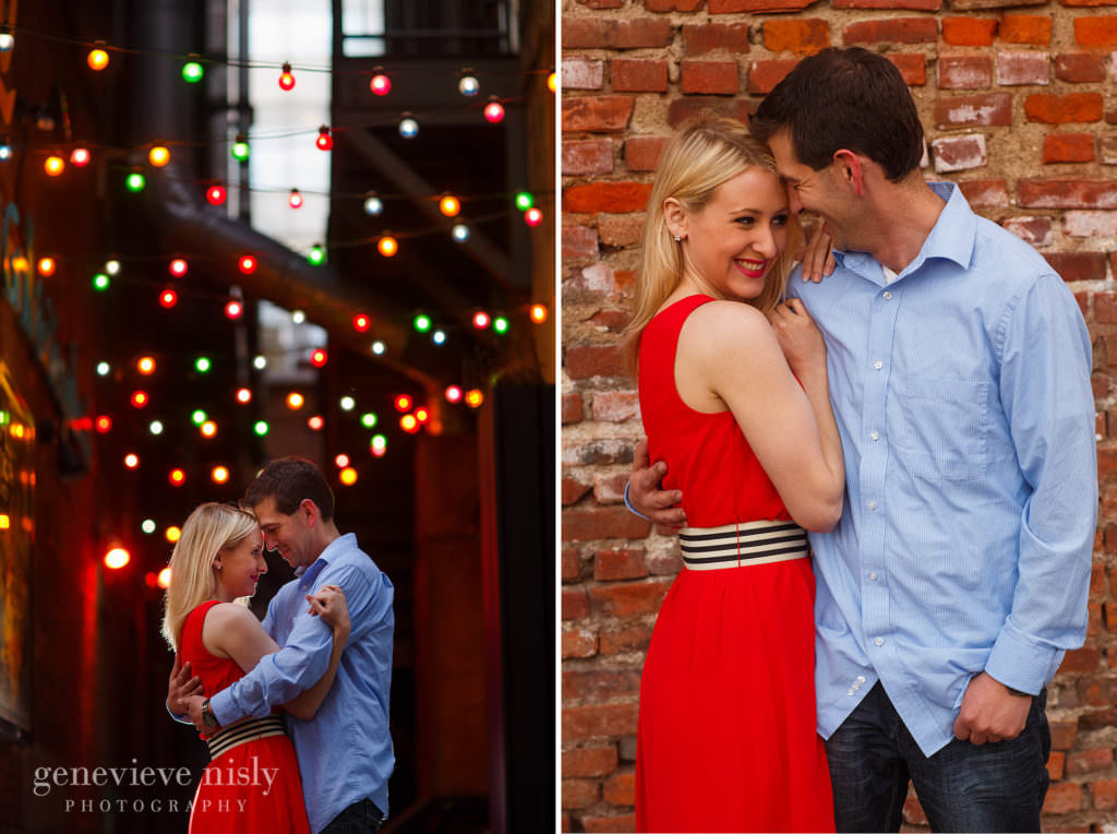 Cleveland, Copyright Genevieve Nisly Photography, East 4th St., Engagements, Ohio, Spring