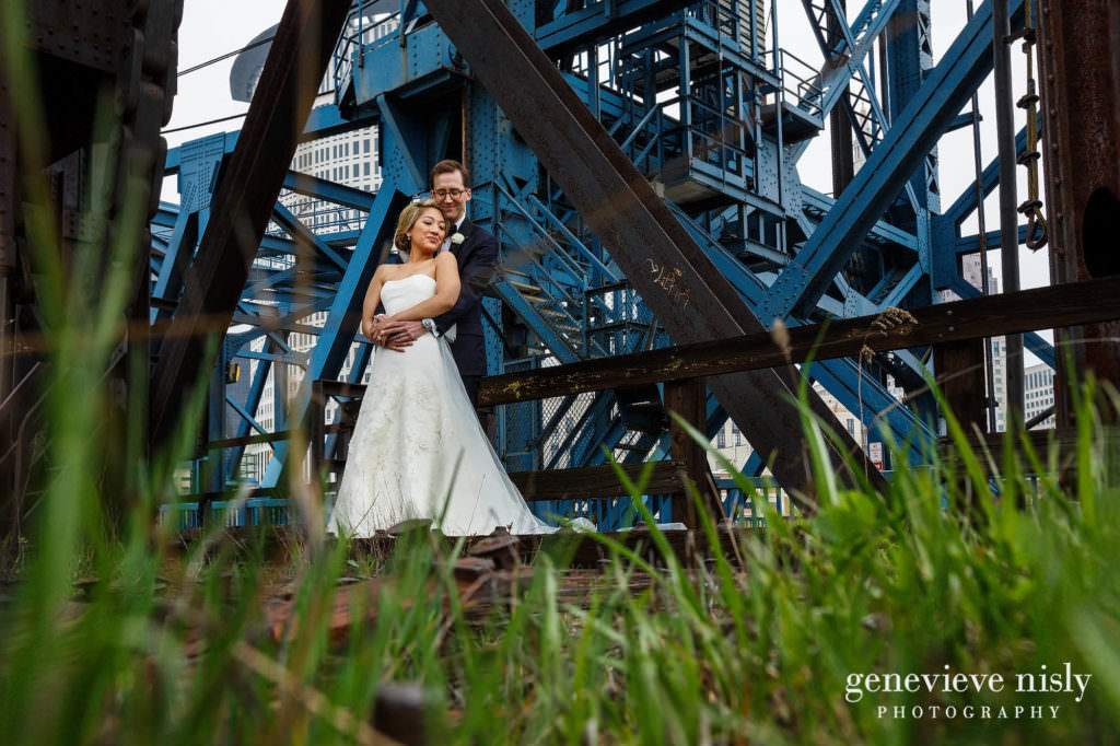 Cleveland, Copyright Genevieve Nisly Photography, Downtown Cleveland, Flats, Ohio, Spring, Wedding
