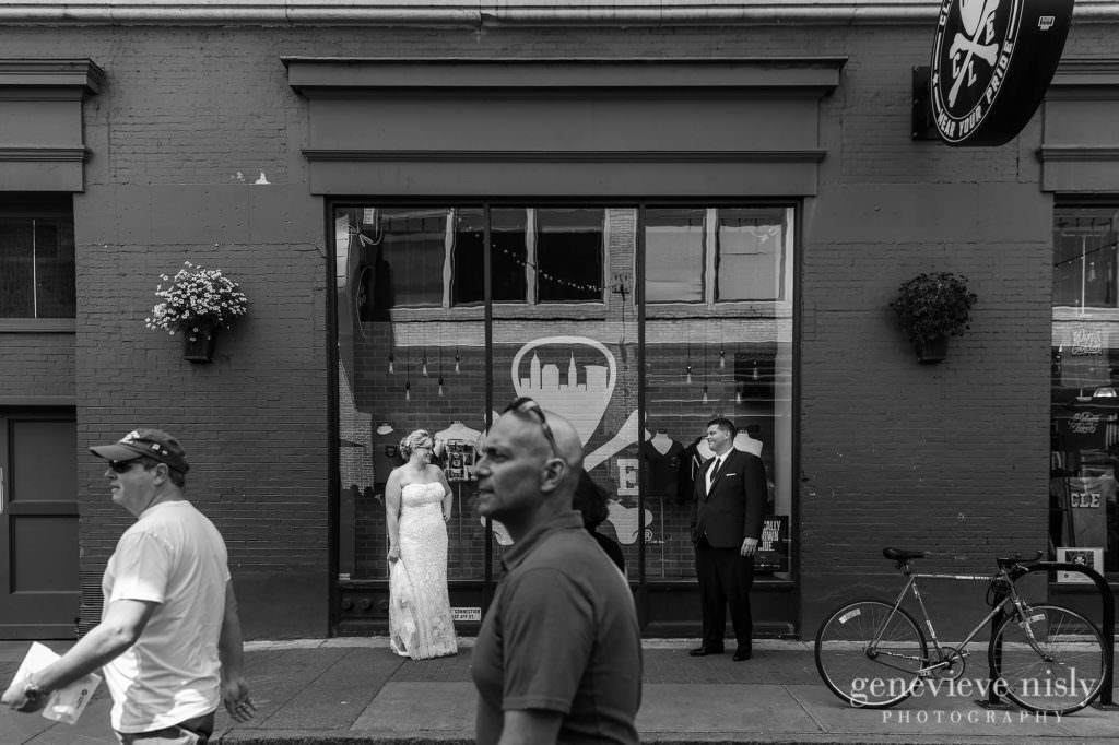 Cleveland, Copyright Genevieve Nisly Photography, East 4th St., Ohio, Summer, Wedding