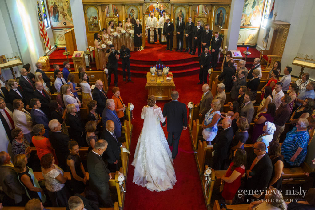 Wedding, Copyright Genevieve Nisly Photography, Summer, Ohio, Canton, St. George's Serbian Orthodox Church