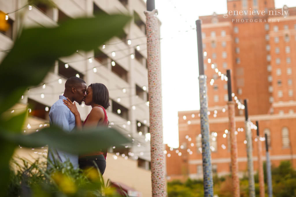 Engagements, Copyright Genevieve Nisly Photography, Summer, Ohio, Akron, Downtown Akron