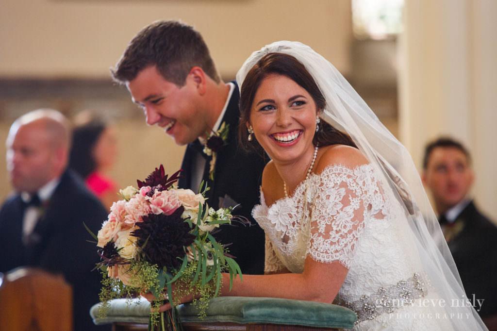Copyright Genevieve Nisly Photography, Fall, Wedding, Ohio, Canton, St Peter Catholic Church