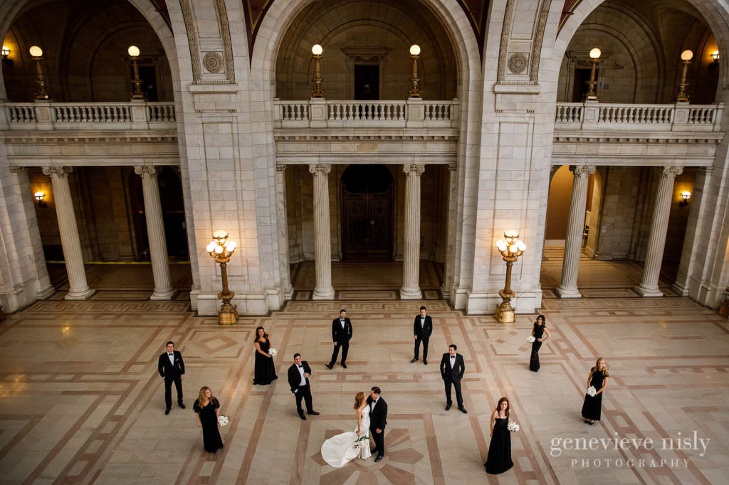 Bridal party at the Old Courthouse in Lakeside Avenue.