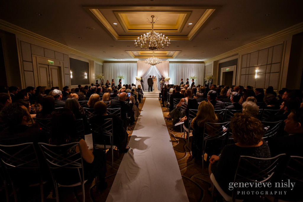 Overview of Dana and Max's ceremony at the Cleveland Ritz Carlton.