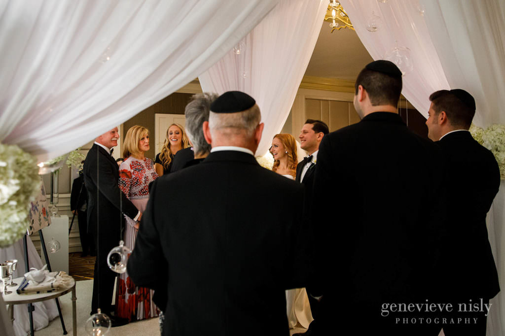 Dana and Max under the chuppah.
