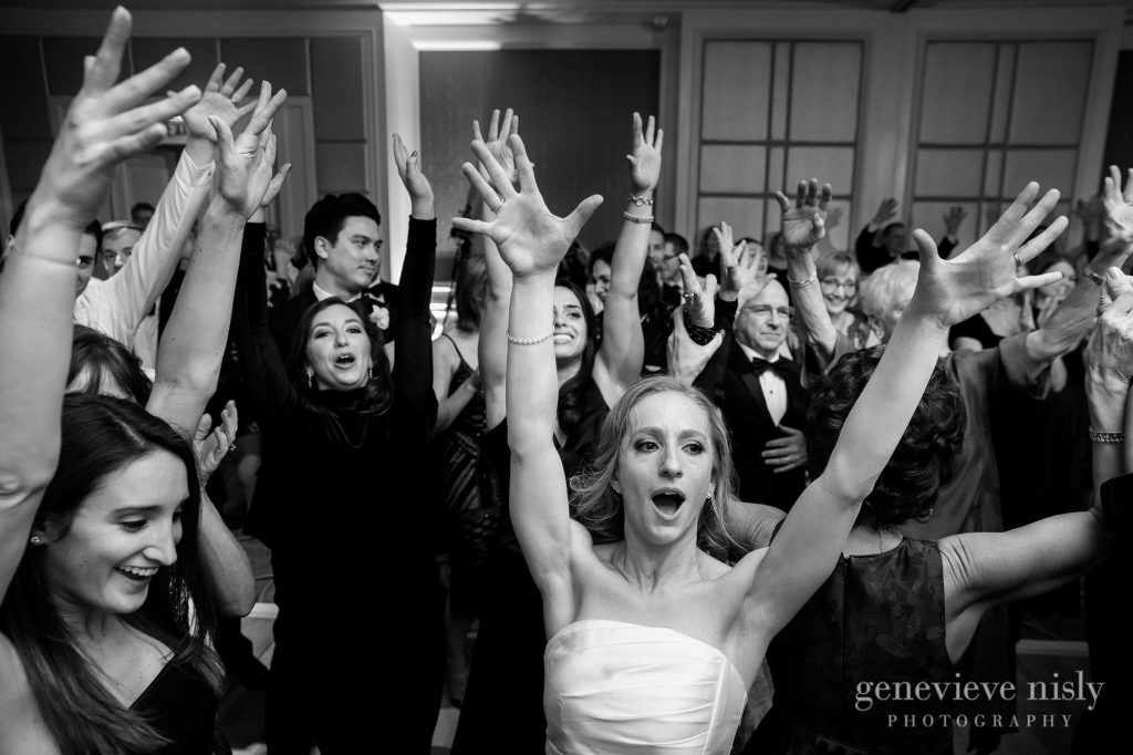 Guests dance and celebrate during the reception.