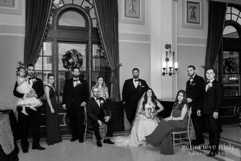 Bridal party at the Onesto Lofts.