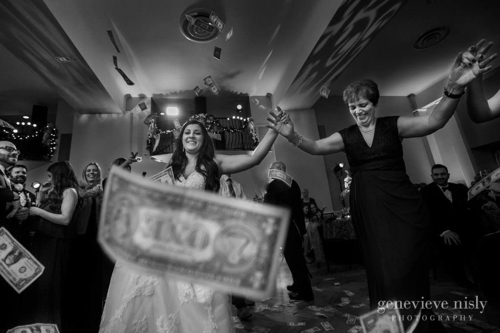 A traditional Greek wedding dance at the reception.