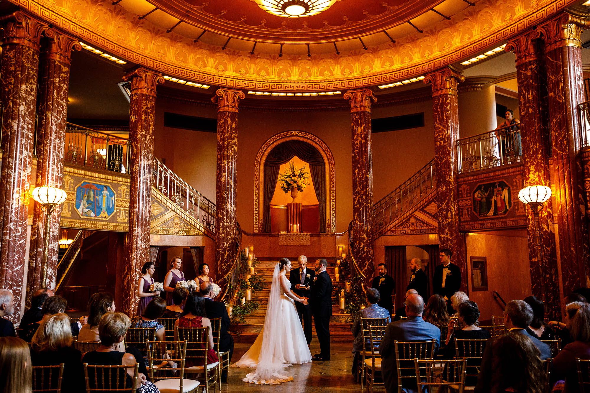 Wedding, Ceremony, Cleveland, Severance Hall