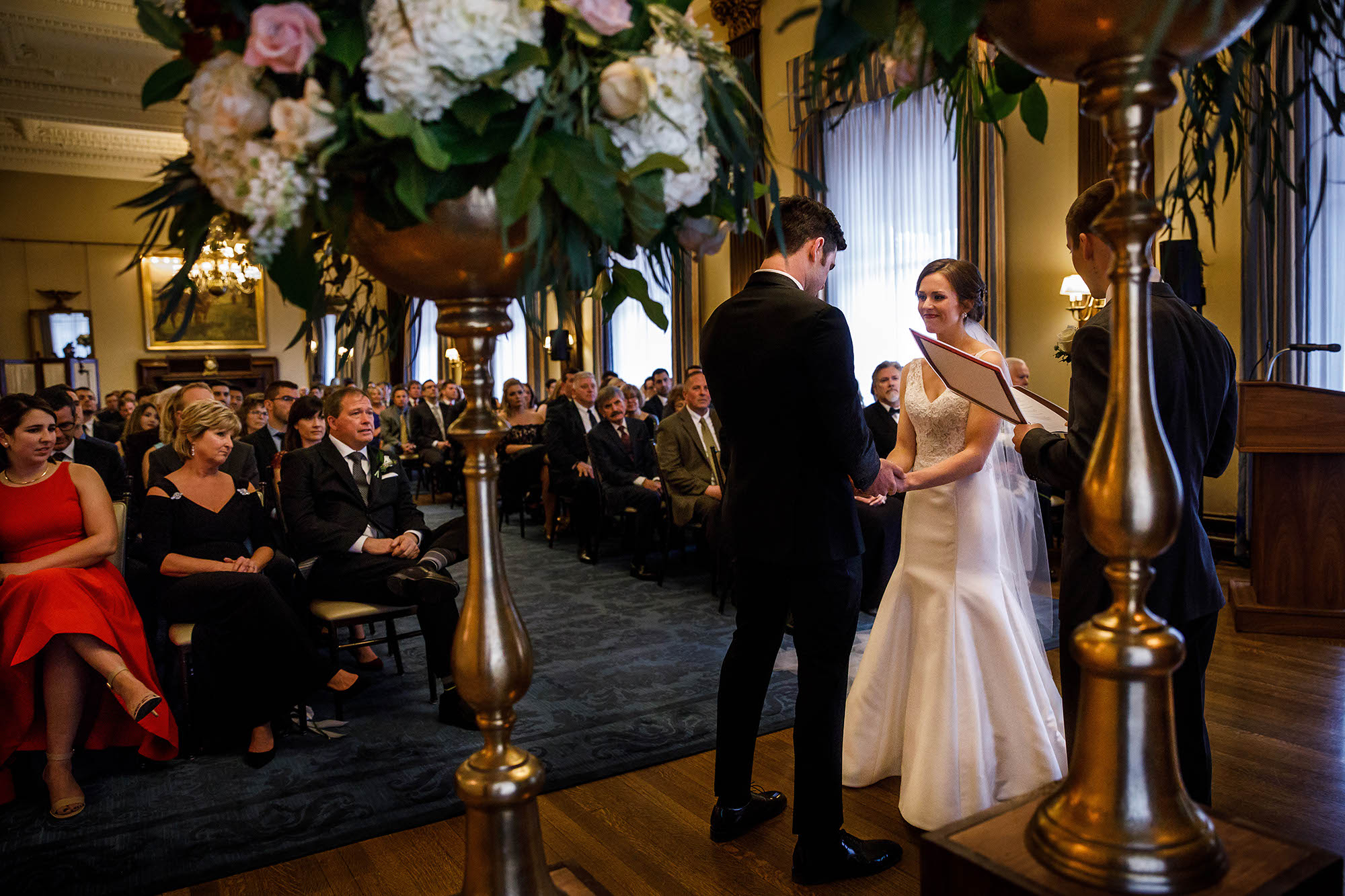 Wedding, Ceremony, Ohio, Cleveland, Union Club